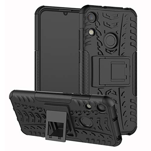 Honor 8A/ Y6 Pro/ Y6 2019 case,LiuShan Shockproof Heavy Duty Combo Hybrid Rugged Dual Layer Grip Cover with Kickstand for Huawei Honor 8A/ Huawei Y6 2019/ Huawei Y6 Pro Smartphone,Black