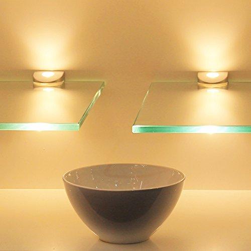 LED Glasregal Wandpaneel Hängeregal Wandboard Wandregal Regal beleuchtet, Auswahl:SET - 900mm