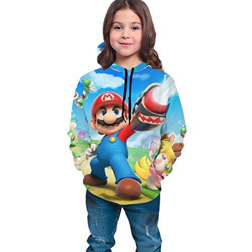 wang hua1 Kinder Hoodies Mit Kapuze Teen Boys Girls Sweatshirt Hoodies Super Mario Green Mushroom Athletic Pullover