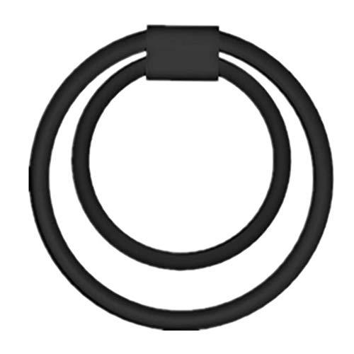MXDozz Herren COC Ring doppelte Ring-elastische Übungs-Delay-Massage Silikon weich und bequem Wasserdicht T-Shirt