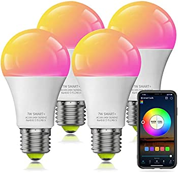4-Pack Magic Hue Bluetooth Connect Color Changing Dimmable LED Bulb