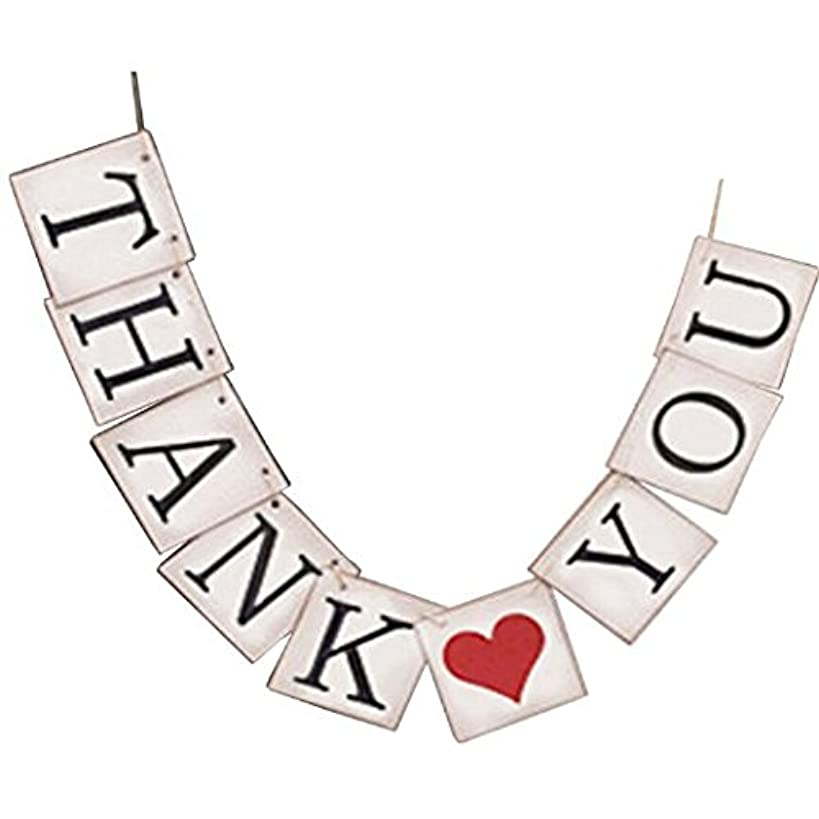 THANK YOU Vintage Wedding Bunting Banner Photo Booth Props Garland Bridal Show Wedding Decoration (white001)