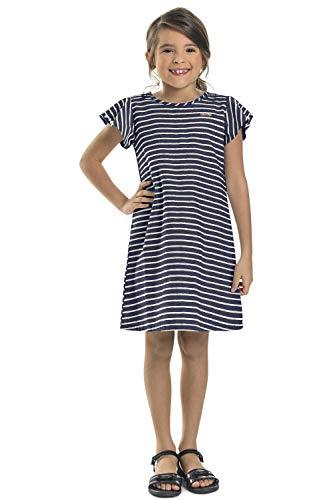 Vestido Infantil em Tricoline, Quimby, Meninas, Azul, 4