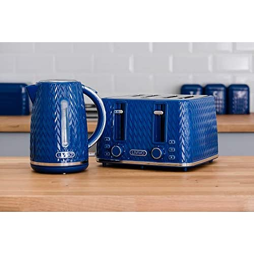 Livivo Taurus Kettle 1.7L - Navy Blue