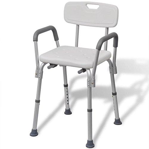 taofuzhuang Aluminium Duschstuhl Badestuhl Duschhocker weiß Gesundheit & Schönheit Gesundheitspflege Senioren- & Behindertenbedarf Barrierefreie Möbel und Zubehör Duschbänke & -sitze