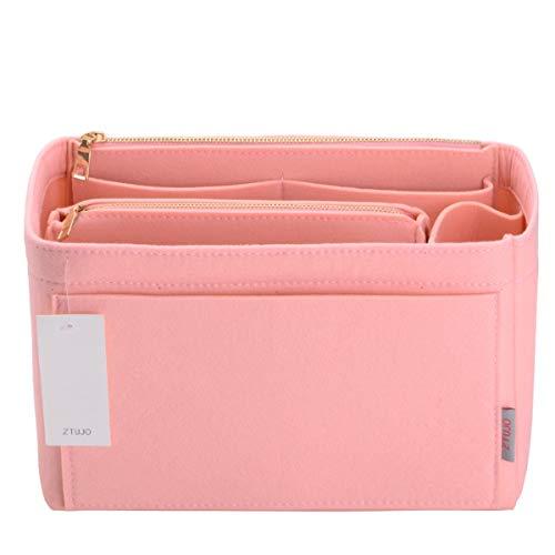 Purse Organizer, Felt Bag Organizer Purse Organizer Insert For Speedy, Neverfull, Graceful, Neverfull,Tote, Handbag,Shaper (X-Large, Brush Pink)