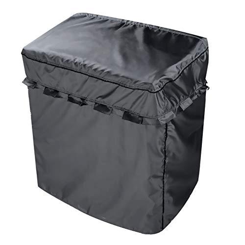 洗濯機カバー 二層式専用 独立の水入口のデザイン 防水 日焼け防止 ブラック L (幅920×奥行500×高さ1000)