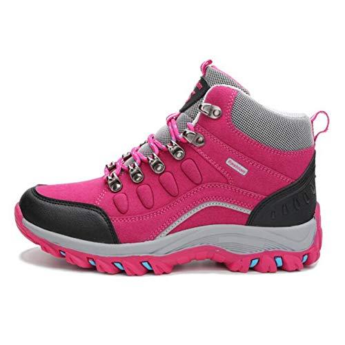 XJWDNX Couple Chaussures De Randonnée Hommes Femmes Bottes De Randonnée Imperméables Chaud Haut Haut Escalade Camping Chaussures Trekking Chasse Chaussures