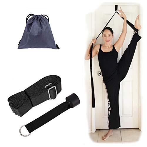 Hossom Yogagurt Gurt Beinstretcher, Übungsband Stretching Beinspreizer Band, Leg Stretcher mit Türanker für Yoga, Pilates, Fitness und Physiotherapie Entworfen