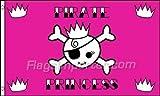 AZ FLAG Flagge Pirat FÜRSTIN 150x90cm - Piraten Prinzessin Fahne 90 x 150 cm - flaggen Top Qualität