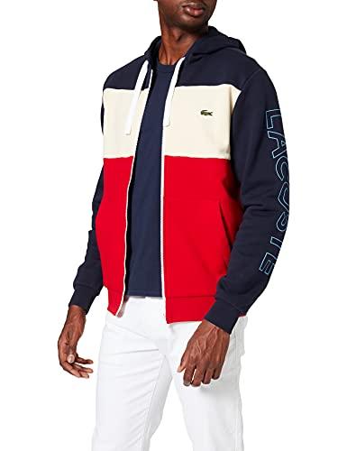 Lacoste SH0177 Sweater, Marine/Naturel Clair-Roug, XS Homme