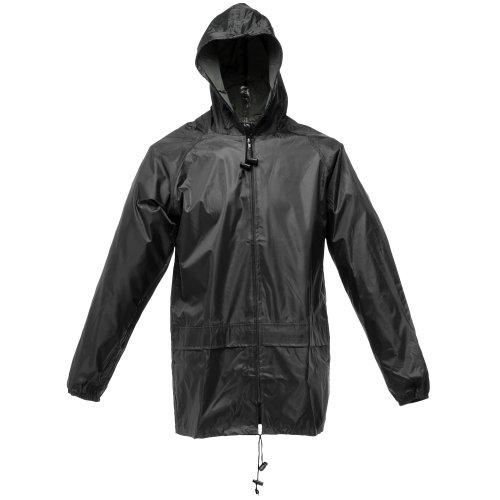 Regatta - Chaqueta / Chubasquero impermeable cortavientos Modelo Stormbreak hombre caballero (Extra Grande (XL)/Negro)
