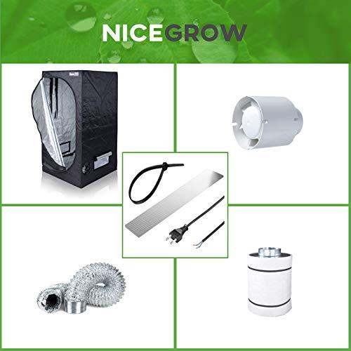 Growzelt Abluft-Set Dark Box 60 Blauberg Tubo 102cbm/h Aktivkohlefilter Grow