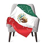 XCNGG Mantas para bebés edredones para bebésCracked Mexican Flag Baby Blanket All Season, Super Soft Warm Cozy Blanket for Infant, Newborn or Kid, Receiving Blanket for Crib, Stroller, Travel, Decorat
