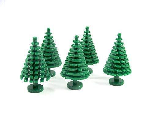 5x Custom Tannenbaum Baum Pflanze Grünzeug für LEGO® grün