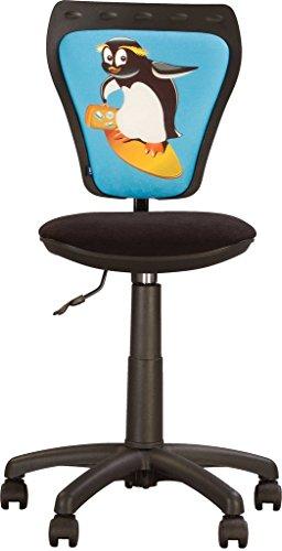 Ministyle- Sedia da ufficio per bambini.Girevole a 360 °.Regolabile in altezza Sedile regolabile, schienale regolabile.