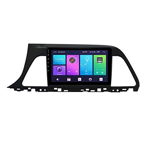 Sat Nav Android 10.0 Car Stereo Radio Compatible Hyundai Sonata 9 2015-2018 Navegación GPS Unidad principal de 9 pulgadas Reproductor multimedia MP5 Receptor de video Rastreador 4G WIFI DSP Mirrorlin