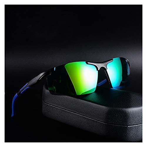 QQGGTongFeng Clásico Nuevas Gafas de Sol Gafas de Sol para Hombre Tide Polarizados Conductores Conducción Gafas para Exterior (Lenses Color : Green)