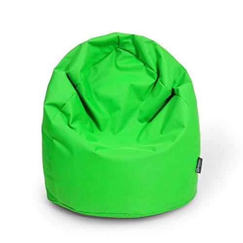 Sitzsack Birne Outdoor Beanbag Indoor Sitzsäcke 3 Größen & 32 Farben Bodenkissen Riesensitzsack Erwachsene Bean Bags Kinder Wohnzimmer (XXXL Ca. H : 130cm - Dm : 85cm ca. 490 Liter, Neongrün)