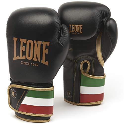 LEONE 1947 GN039 Guantes de Boxeo, Unisex – Adulto, Negro, 12OZ