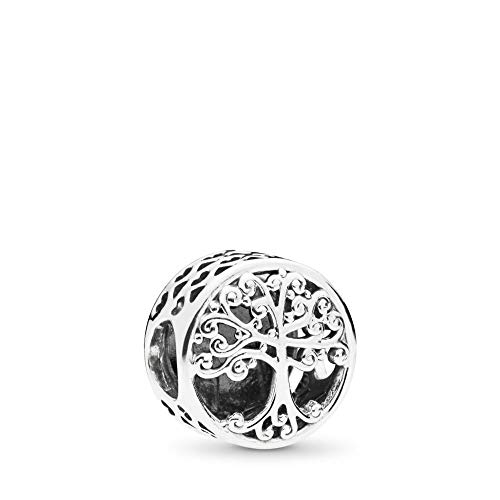 MiniJewelry Family Tree Roots Charm for Pandora Bracelets Family Tree of Live Love Hearts Sterling Silver Charm for Women