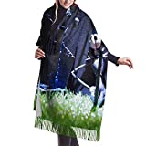 XCNGG Bufanda con flecos de cachemira de imitación chal bufanda larga de moda Scarf Halloween Characters Womens Warm Long Shawl Wraps Large Knit Cashmere Feel Scarves
