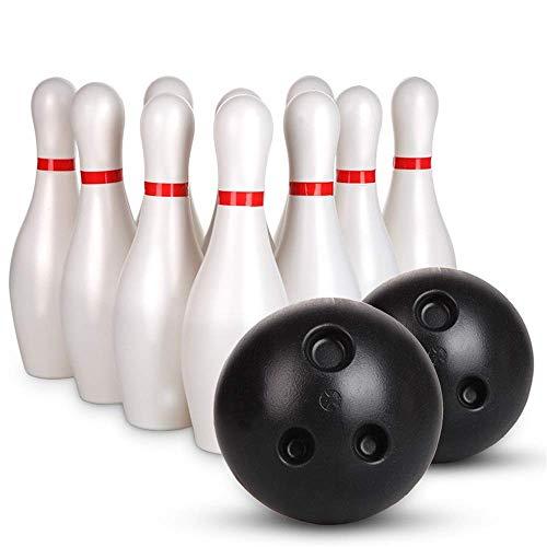 Kinder Puzzle Bowling Spielzeug gesetzt Bowling Pins Kugel Spielzeug Kleinplastik Bowling Set Fun Indoor-Spiel mit 10 Mini-Pins und 2 Bällen Spielzeug großes Geschenk for Junge Mädchen (Farbe, Größe: