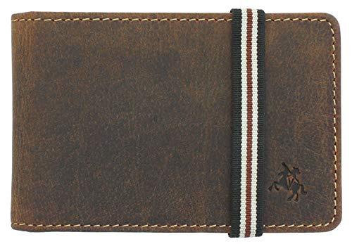 Visconti Bandit Collection - Tarjetero de piel con cierre elástico RFID BN1, color marrón