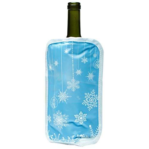 Mzxun Cubos de hielo cubo de hielo de acero inoxidable/Champagne Enfriador elevador de personal/enfriador de botellas de vino/mayor capacidad de Refrigeración/asa de transporte, pinzas/famil