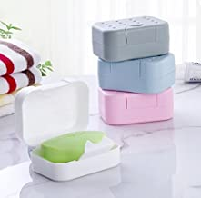 Sungpunet 1PCS Soap Bowl Convenience Soap Holder Home Hotel Travel Soap Container Storage Box for Bathroom Shower Tool Ran...