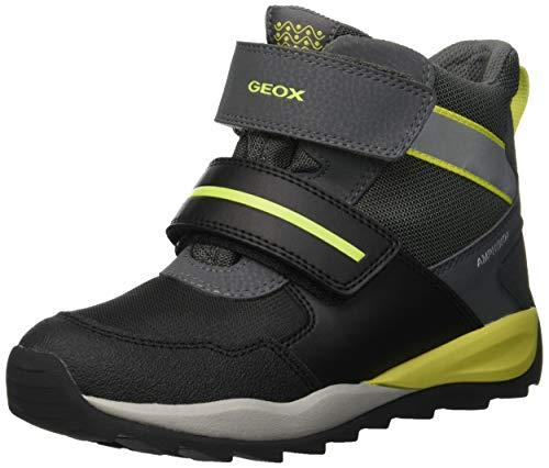 Geox Jungen J Orizont Boy ABX A Schneestiefel, Schwarz (Black/Lime C0802), 29 EU