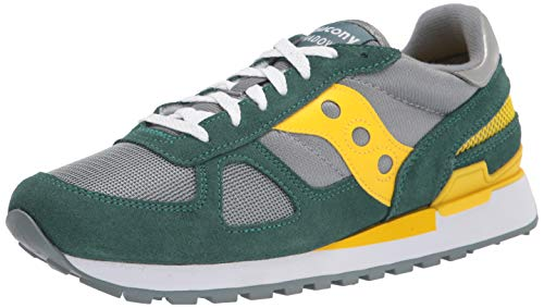 Saucony, Jazz, Sneaker alla moda da uomo e da donna, (Mallard Cyber Giallo), 42.5 EU
