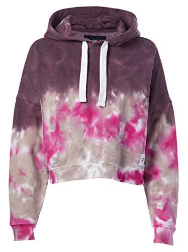Calvin Klein Women's Tie Dye Crop Hoodie Sweatshirt