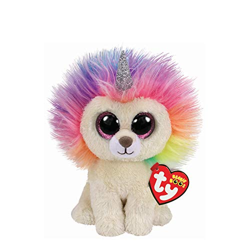 Ty Claire's Beanies Girl's Beanie Boo Small Layla The Rainbow Lion Plush Toy