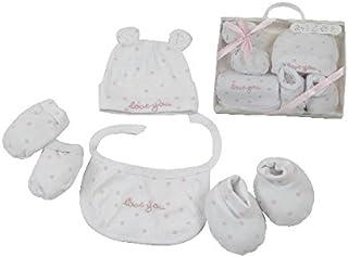 baaa4baecb481 KING BEAR Magnifique coffret cadeau naissance 4 pièces comprenant 1 bonnet  1 paire de chausson 1