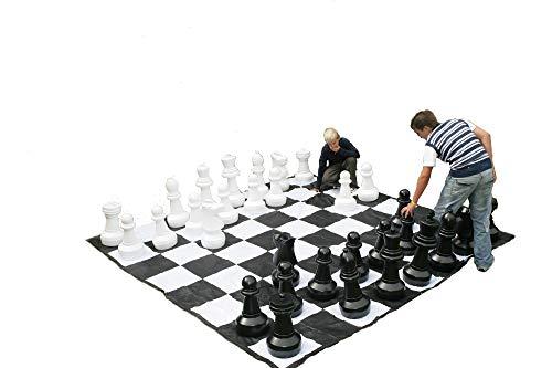 Juego de Ajedrez Gigante, piezas de plastico resistente para jugar al ajedrez