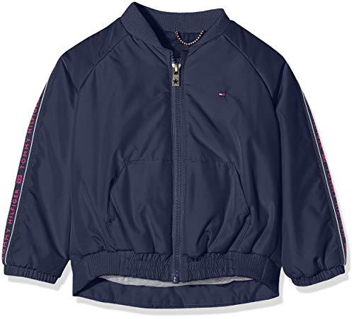 Tommy Hilfiger Mädchen Essential Tommy Tape Jacket Jacke, Blau (Blue Cbk), One Size (Herstellergröße: 74)