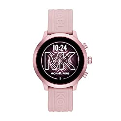 cheap Michael Kors Access MKGO Ladies Aluminum Silicon Touch Screen Smart Watch, Rouge / Pink – MKT5070