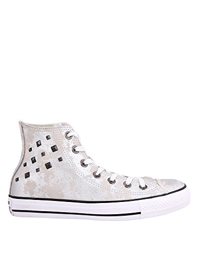 Converse Women's Chuck Taylor All Star Hardware Silver Sneakers 100% cuero, Plateado (plata), 41 EU (Varios)