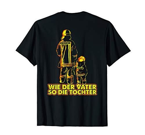 Vater Feuerwehrmann und Tochter Feuerwehrfrau T-Shirt