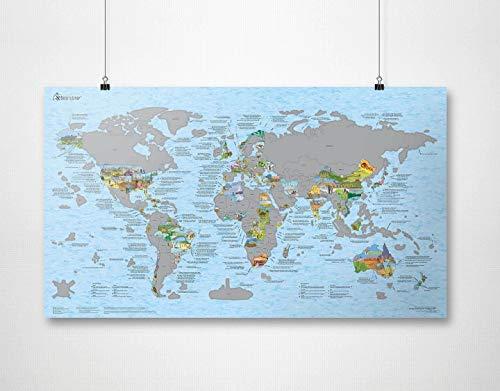Rubbel Weltkarte | AWESOME MAPS | Halte deine Reisen fest und zeige der Welt wo du warst und was du erreicht hast