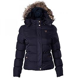 Brave Soul Hopp Womens Hood Padded Jacket – Black-Small