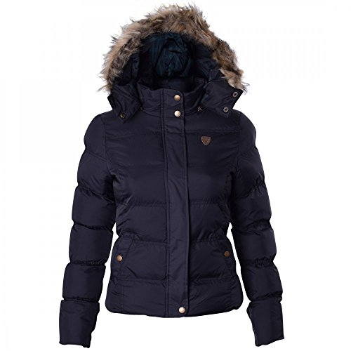 Brave Soul Hopp Womens Hood Padded Jacket – Black-Small