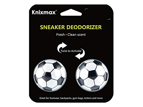 Knixmax Sneaker Deodorizer Balls, Shoes Gym Bags And Lockers Air Fresheners Soccer 1 Pair