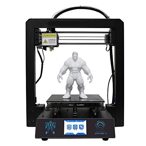 Imprimante 3D de haute précision, format 210 x 210 x 205 mm, avec impression de reprise de la plaque de construction chauffée Ultrabase, fonctionne avec le pied en PLA ABS HANCH de 1,75 mm