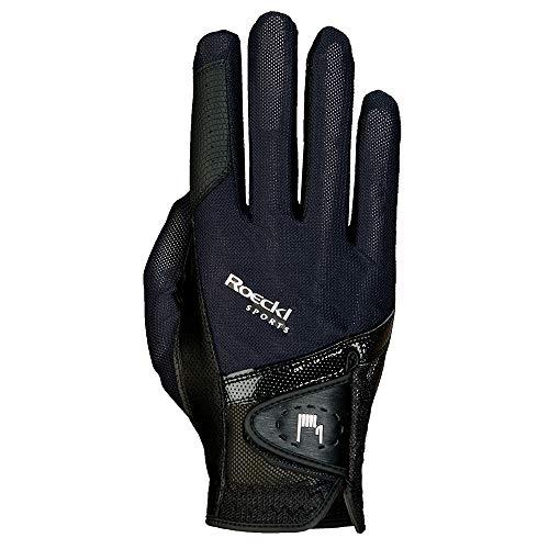 Roeckl Sports Handschuh Madrid, Unisex Reithandschuh, Schwarz, Größe 8