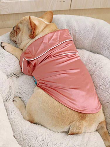 botlav Dog Pajamas Clothes Silk Soft Shirts Loungewear Puppy Pjs for Small Yorkie Bulldog Cats