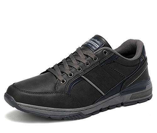 AX BOXING Zapatillas Hombres Deporte Running Sneakers Zapatos para Correr Gimnasio Deportivas Padel Transpirables Casual 40-46 (45 EU, Gris Tierra)