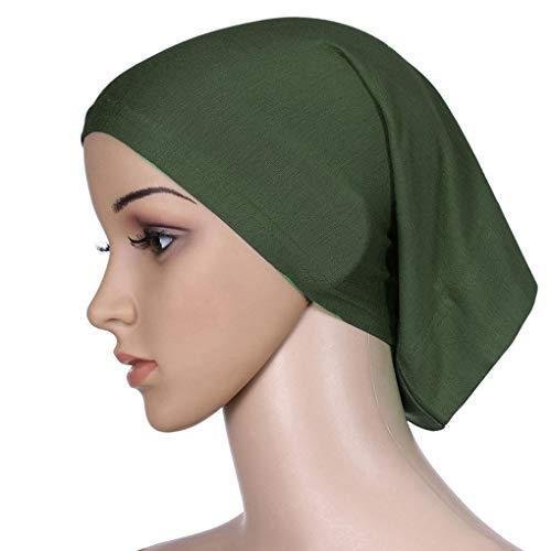 Dames verstelbare hoofddoek Gemerceriseerde katoenen hoofdkap Effen Dames verstelbare hoofddoek, dames tube cap stretch elastische hoofdbedekking