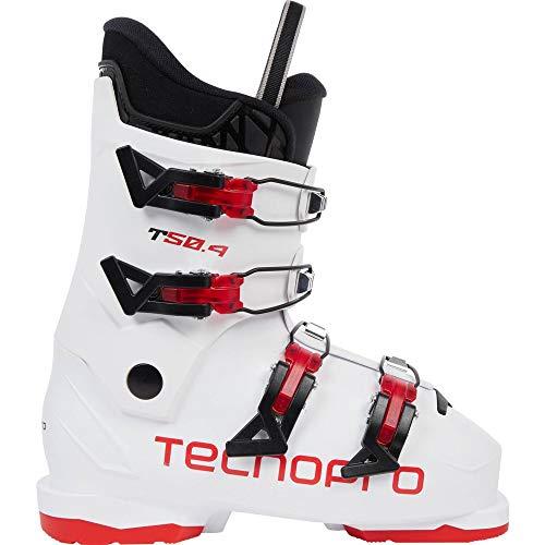 TECNOPRO - Stivali da Sci Unisex per Ragazzi T50-4, 296780, White/Red, 27.5